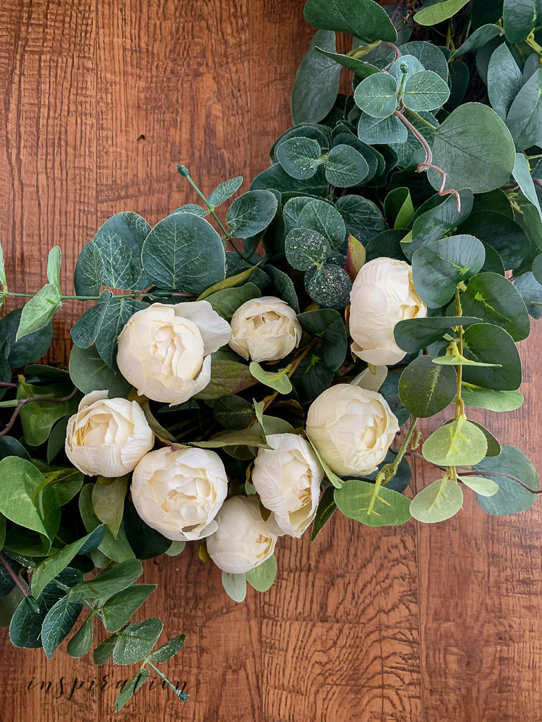 Bring the new season to your front door with a simple, but elegant peony eucalyptus spring wreath. So easy to make and perfect for any decor!
