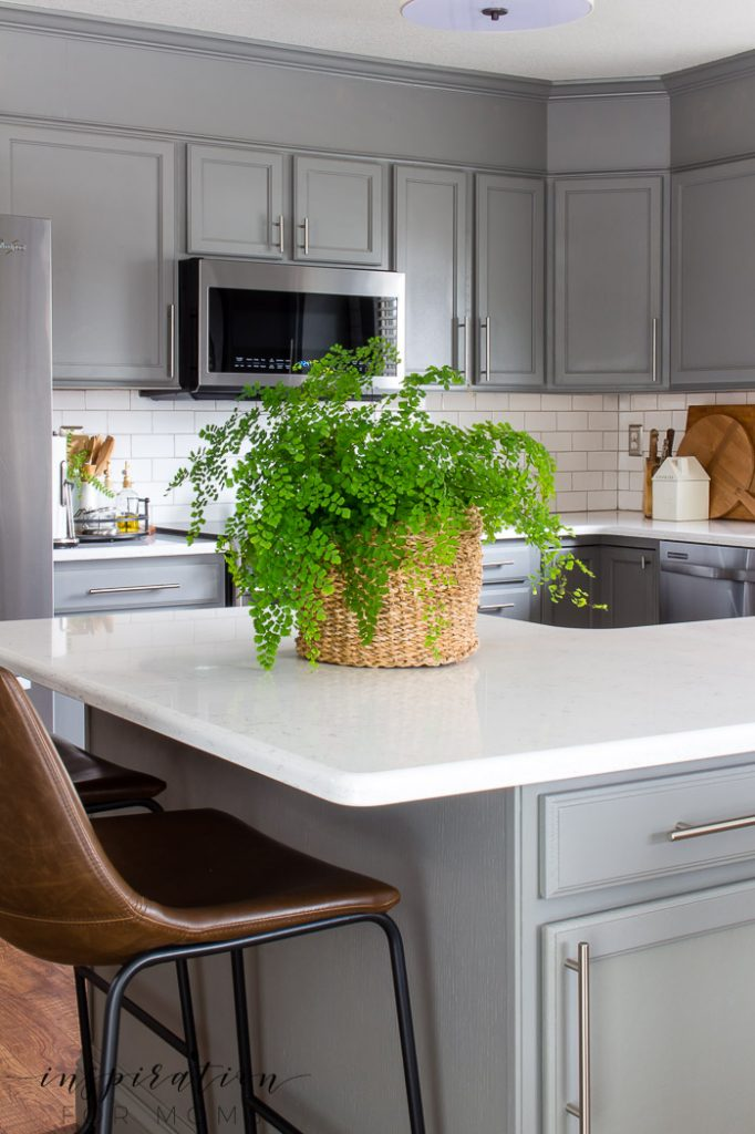 Decorating with hints of green is easy to do with the help of fresh flowers and pretty plants. Welcome to my spring home tour!