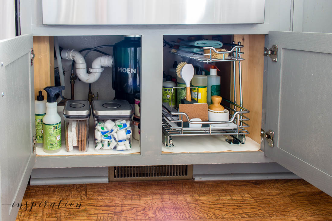 Is that cabinet under your sink a scary messy you've been ignoring? Learn helpful tips on how to organize under the kitchen sink and maintain it with ease.