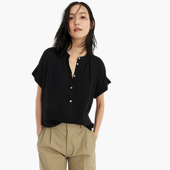 Drapey Popover Shirt - Great for spring into summer!