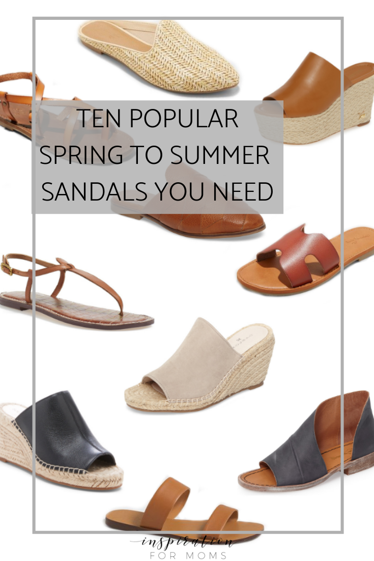 Popular Spring to Summer Sandals You Need Now
