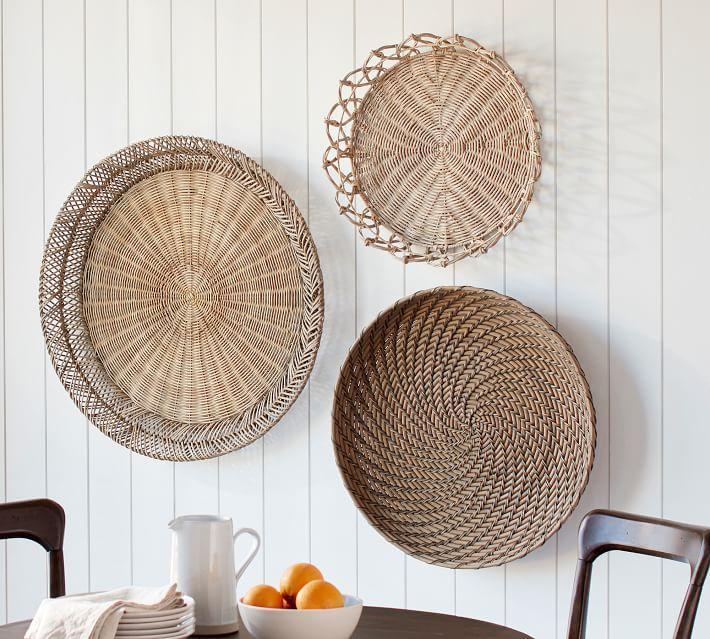 Jasper Natural Rattan Wall Baskets