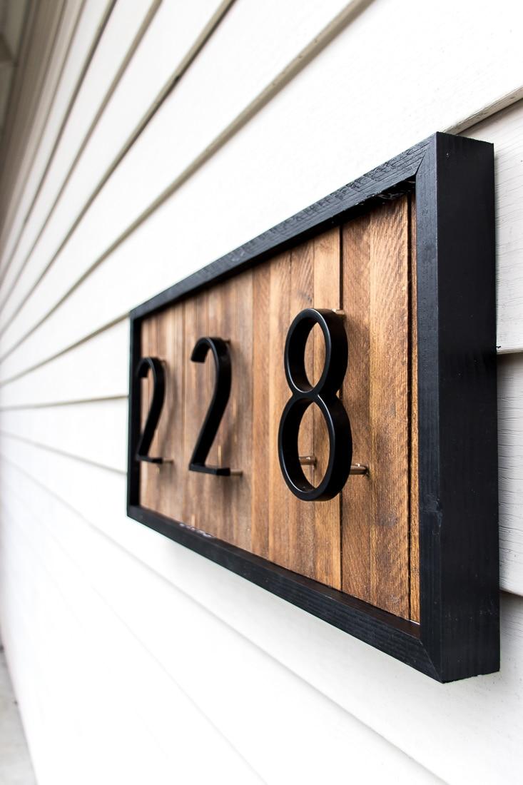 Modern House Number Sign DIY