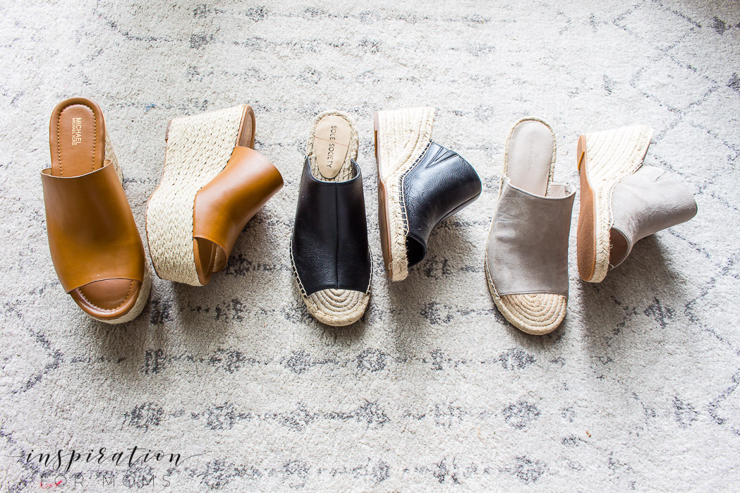 Wedge sandals - for spring or summer sandals