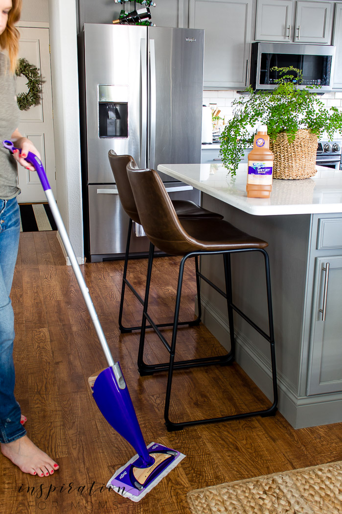 Maintaining a clean home with two young boys can be challenging at times. But not when it comes to clean hardwood floors. Learn my easy three-step process!