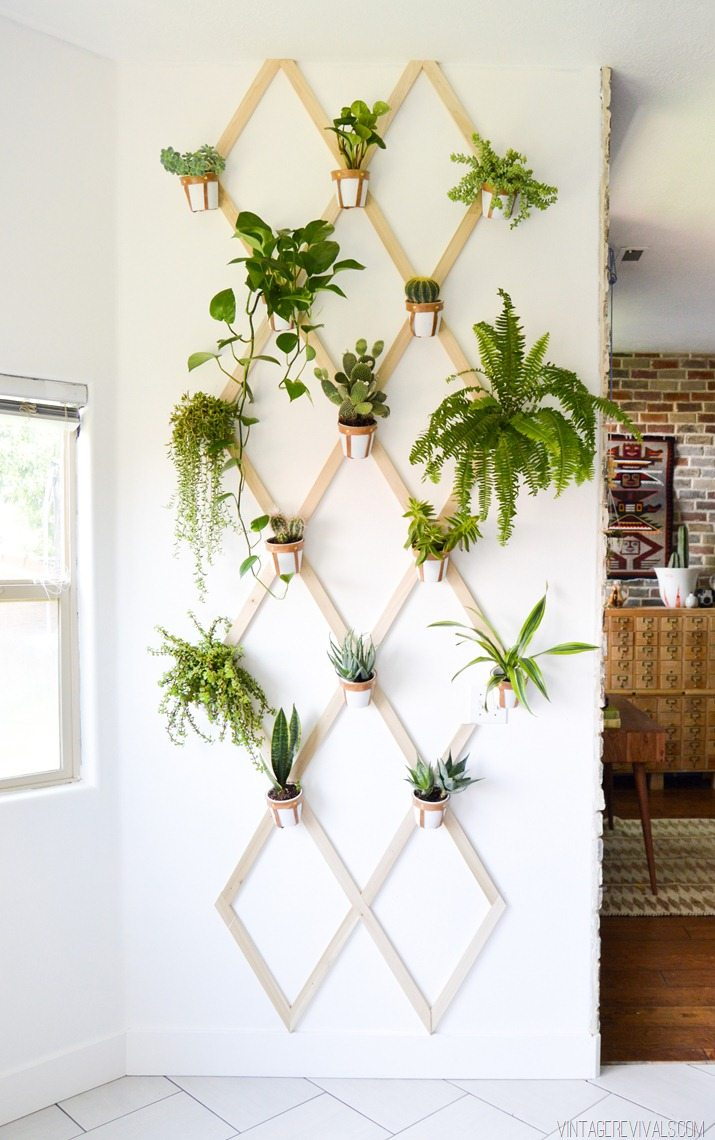 Indoor Wood and Leather Trellis