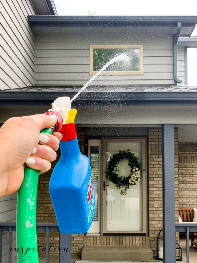 Warmer weather is here and the patio needs a big spring cleaning. Here's my step by step process with the best patio cleaner for getting the job done right! windex outdoor cleaner