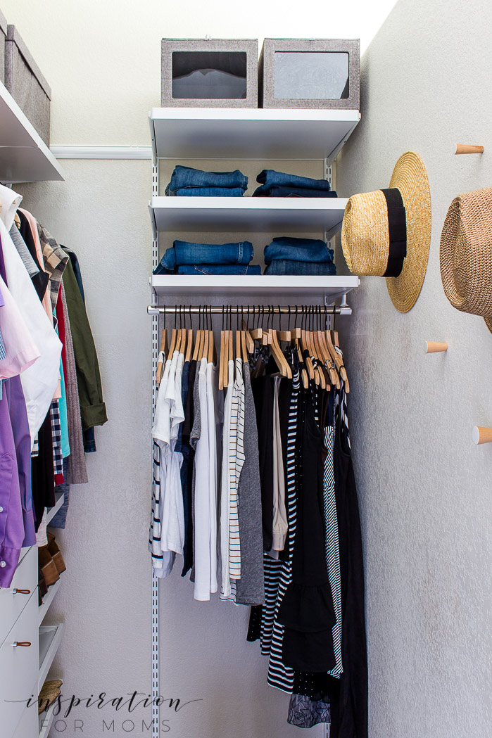 Squeeze in more items with my helpful tips and tricks on small closet organization -- organized closet