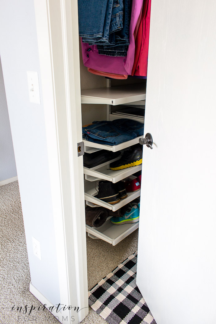 Squeeze in more items with my helpful tips and tricks on small closet organization.