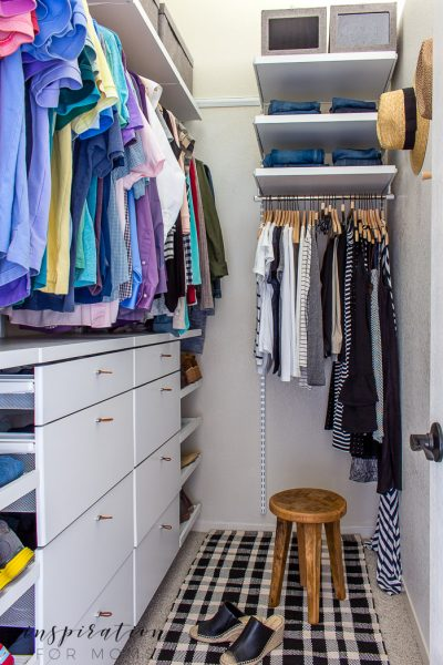 Frustrated with the lack of storage in your small closet? Squeeze in more items with my helpful tips and tricks on small closet organization.
