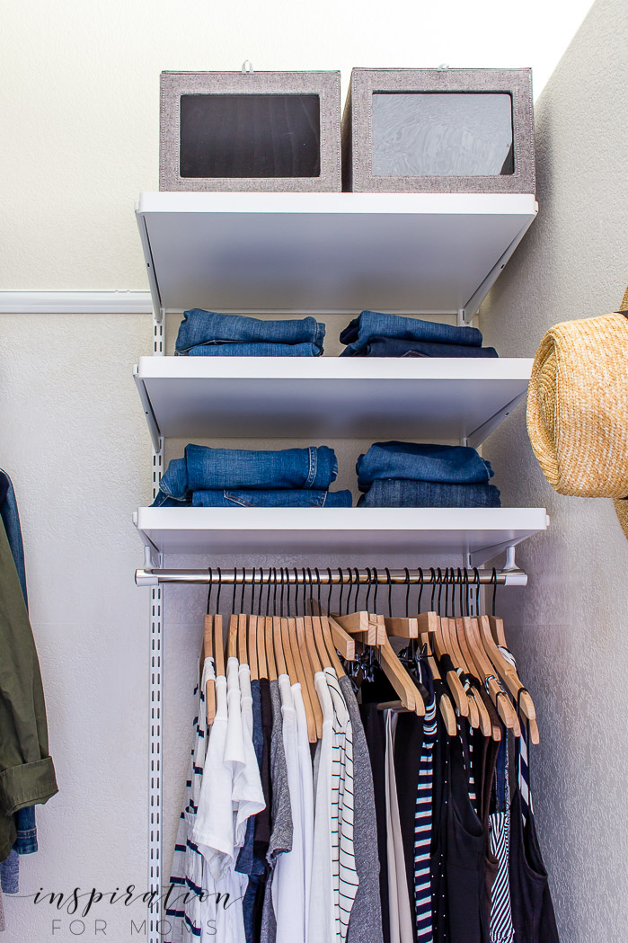 Squeeze in more items with my helpful tips and tricks on small closet organization -- closet shelves