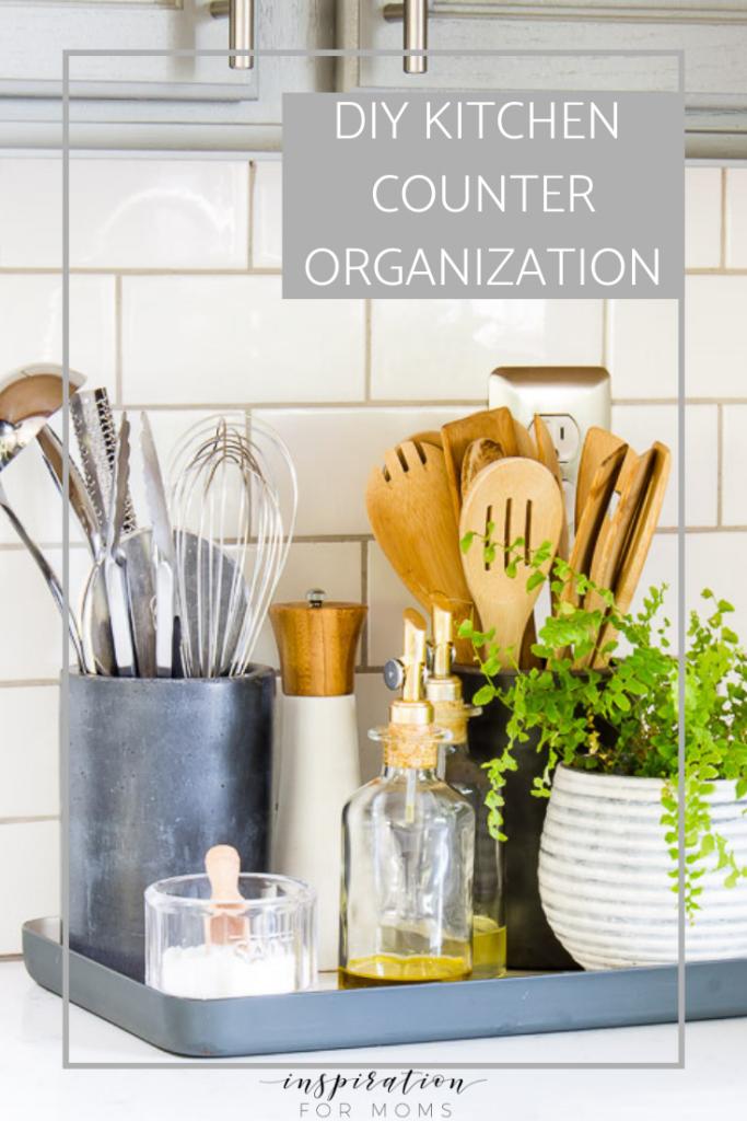 diy kitchen counter organization #kitchenorganization