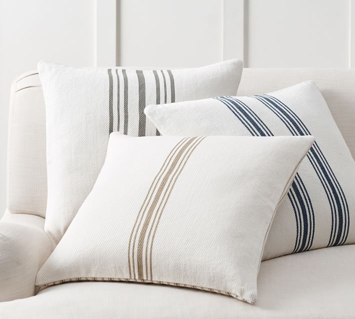 reversible stripe pillow - great for any decor