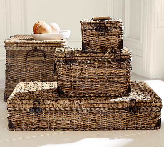 lidded baskets - great storage for the home