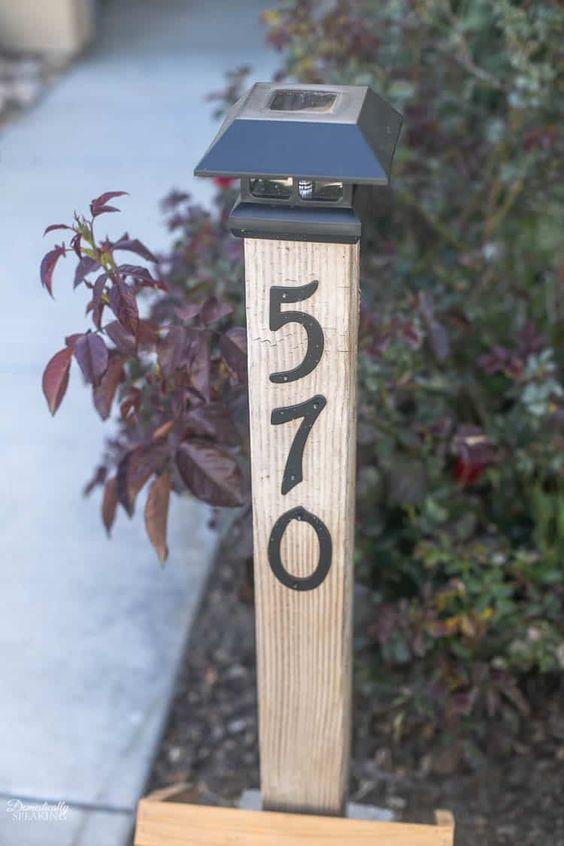 DIY Solar Address Post
