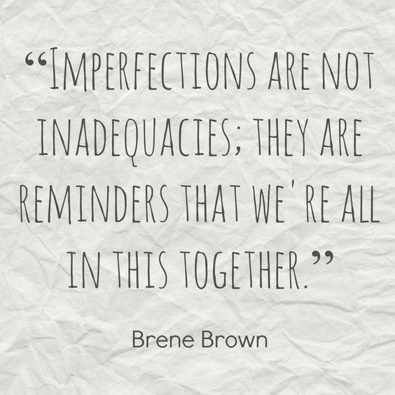 Imperfections are not inadequacies - friday's fantastic finds