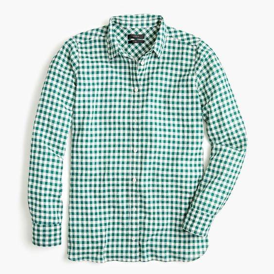 crinkle gingham shirt on sale