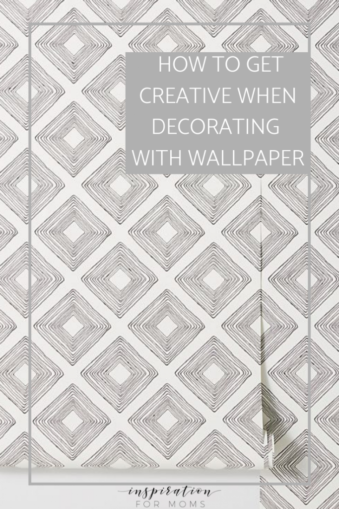 Wallpaper is popping up every where and not just on the walls. I'm sharing seven ways to get creative in your home when decorating with wallpaper.