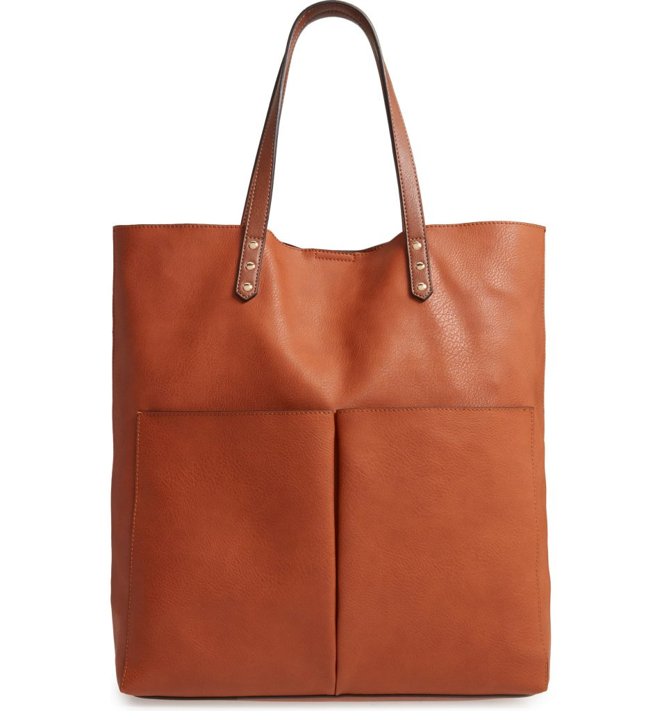 Lucie Faux Leather Tote Sole Society