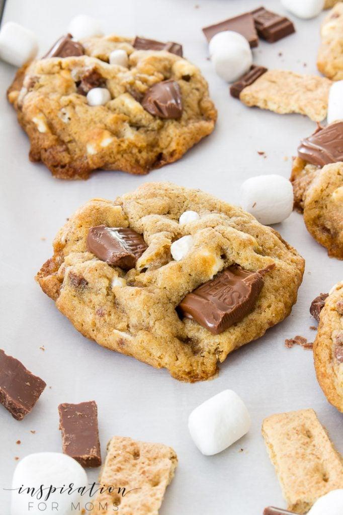 s'mores cookies recipe -- so good!