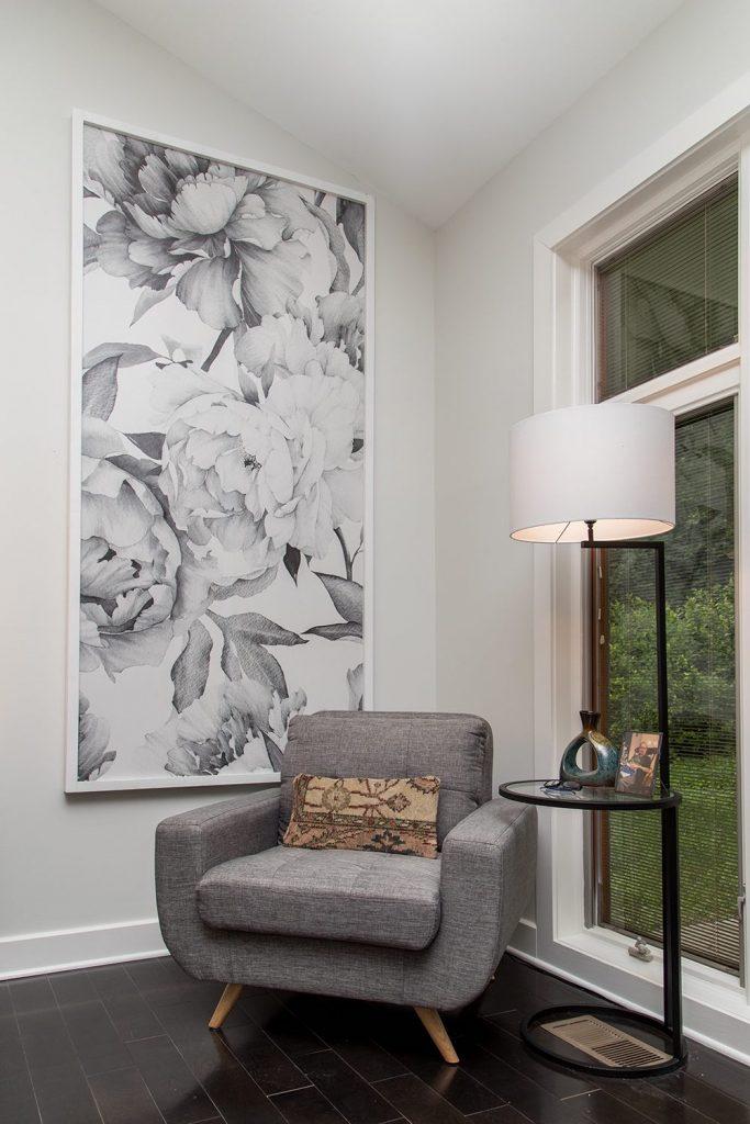 wallpaper panel framed