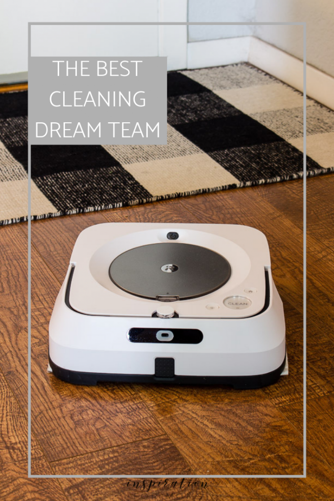 Rosie, our vacuum cleaning robot now has a cleaning bestie. Meet Buffy! She's our @irobot Braava Jet Robot Mop. And these two have quickly become my floor cleaning dream team! Learn how these two play 'tag' and automatically keep my floors sparkling clean while I sit back and sip my morning coffee. Plus I'm sharing a deal on how you can save up to $150 on your own dynamic duo robots! http://bit.ly/2PqNMDK #iRobot #iRobotLove #ad #cleaningtips #floorcleaning #housecleaning