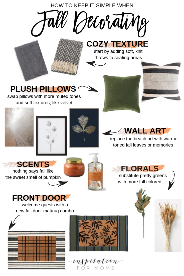 keep it simple when fall decorating