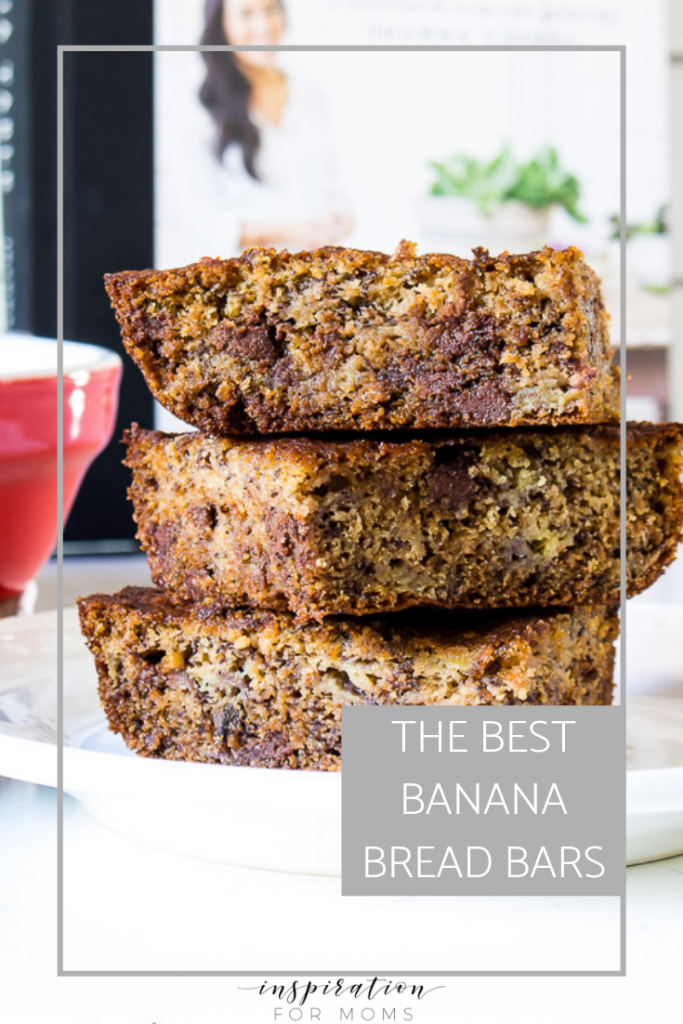 These Banana Bread Bars inspired by Joanna Gaines are the perfect after school snack. Or perhaps the way I prefer them, for breakfast with a cup of coffee!