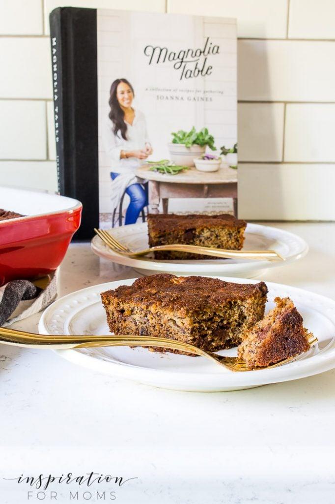 banana bread bars inspired by Joanna Gaines