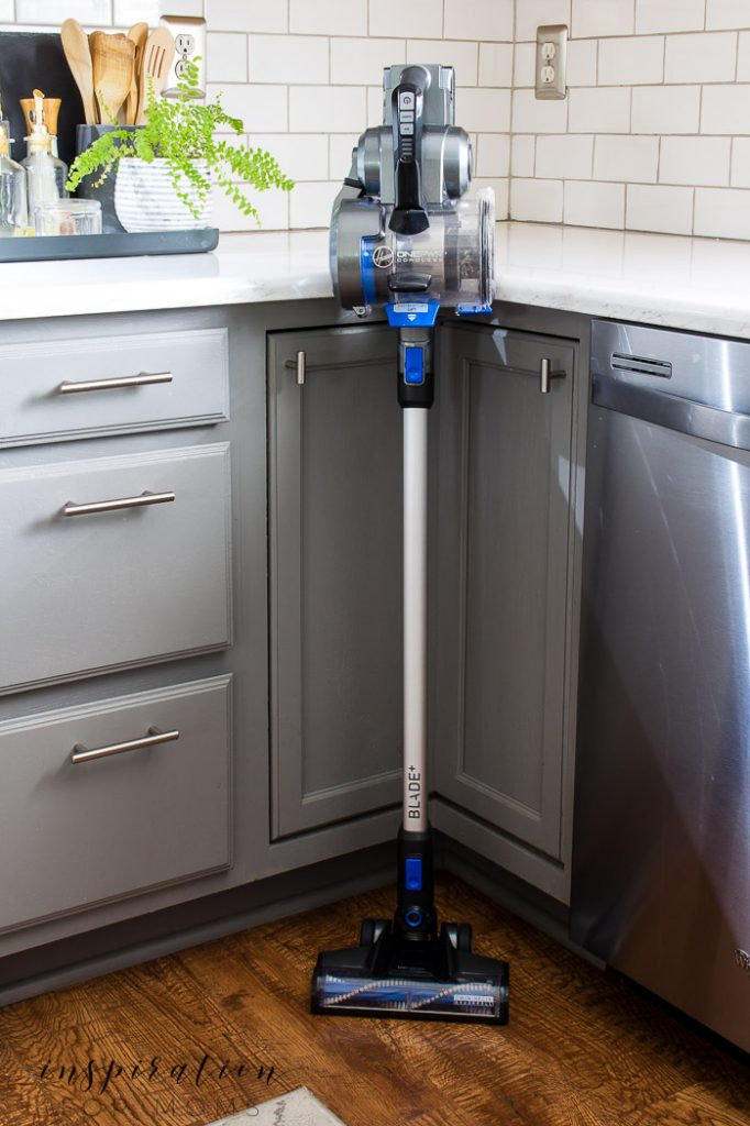 Hoover ONEPWR Blade Max Vacuum in kitchen