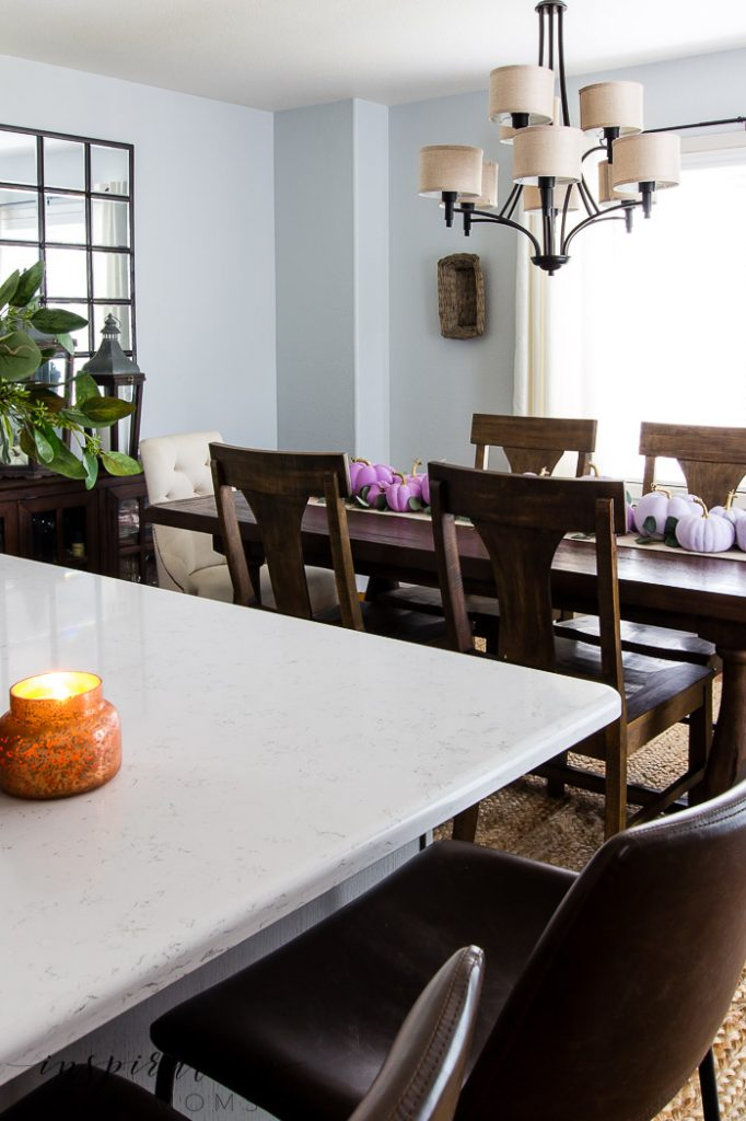 fall home tour dining room featuring plum
