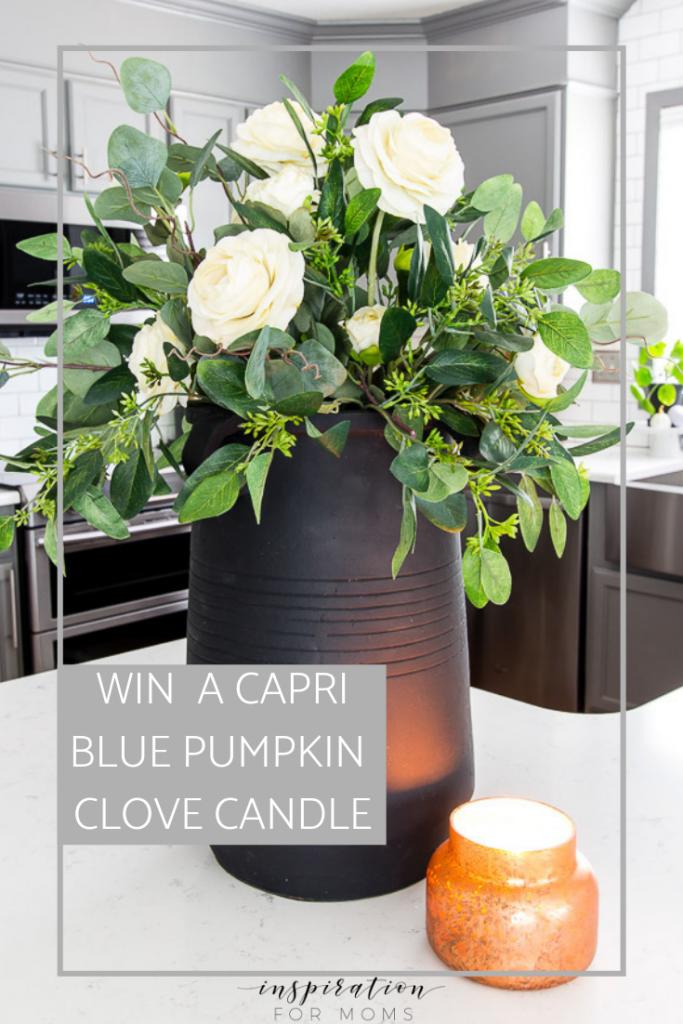 pumpkin clove jar candle giveaway