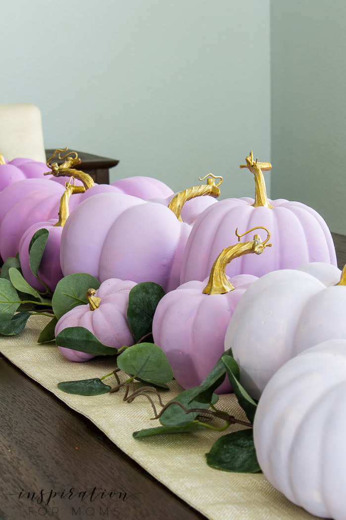 How To Create Plum Ombre Painted Pumpkins