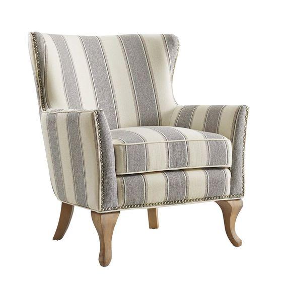 zubair wingback chair - love the stripes