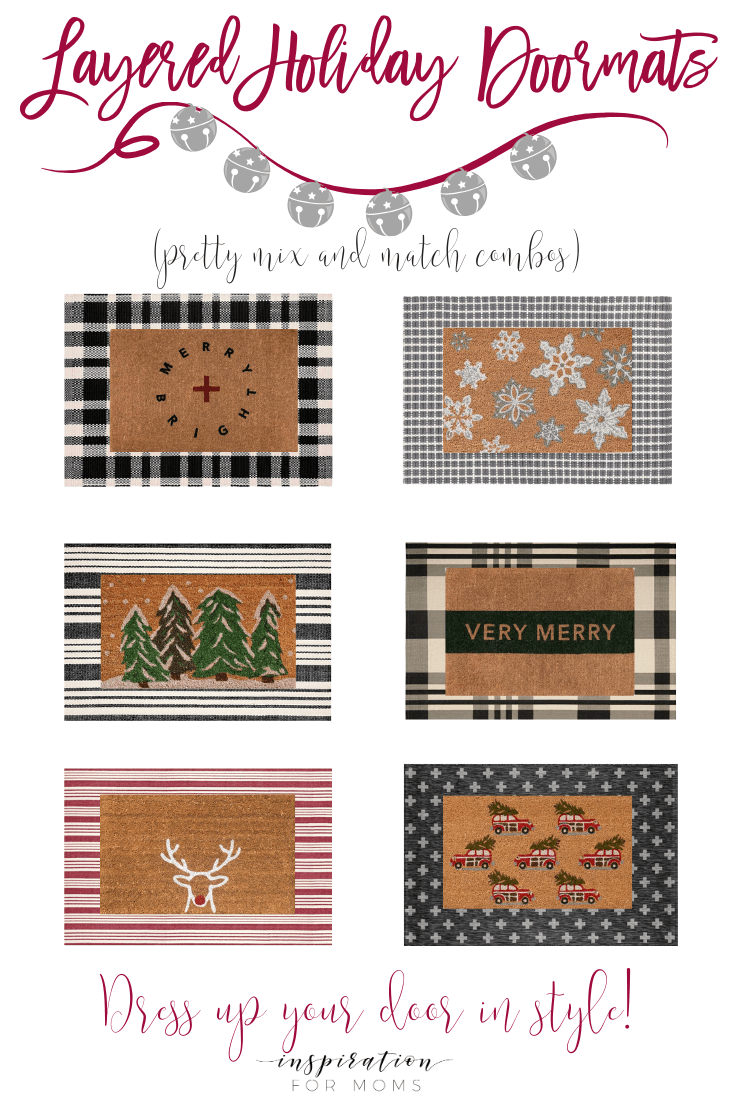 Festive Layered Holiday Doormats Combos