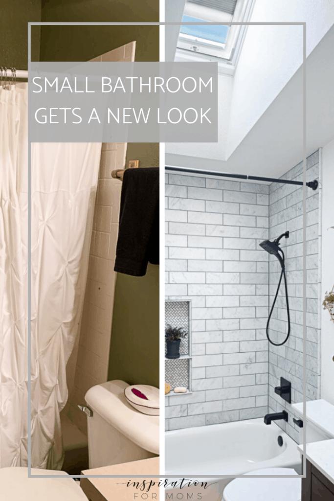 small bathroom gets a new modern look #bathroomremodel