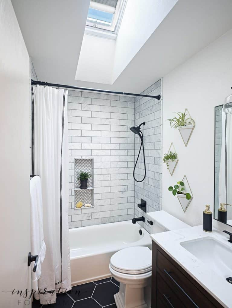 Small Bathroom Remodel with Velux Skylights