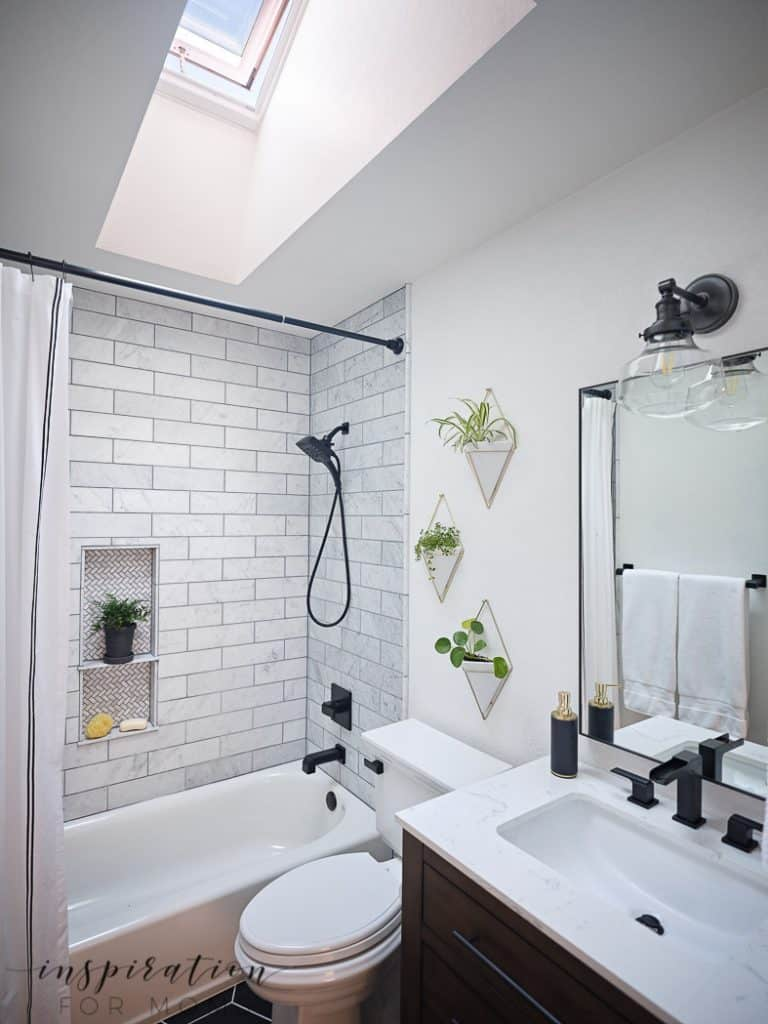 Small Bathroom Remodel With Velux, Small Bathroom Redo