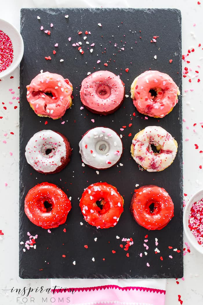 Baked Valentine's Day Doughnuts