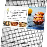 Ultra Cuisine 100% Stainless Steel Wire Cooling Rack for Baking fits Half Sheet Pans Cool Cookies...