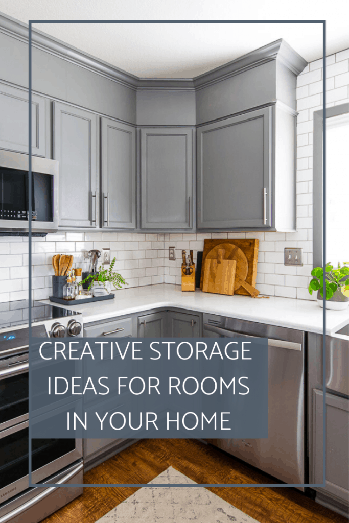 Keep your home tidy with creative storage ideas! I'm sharing tons of great options for smaller homes with limited storage space. #homestorage #storageideas