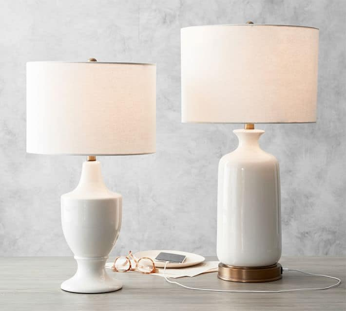 Emilie USB table lamp such a great lamp for bedroom or living room
