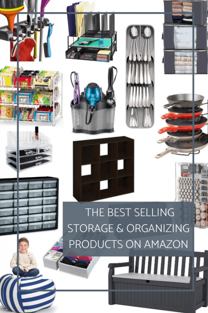 Get your home organized fast with these 15 best storage organizing products from Amazon. No product below 1,000 reviews or 4.1 stars! #organizingproducts