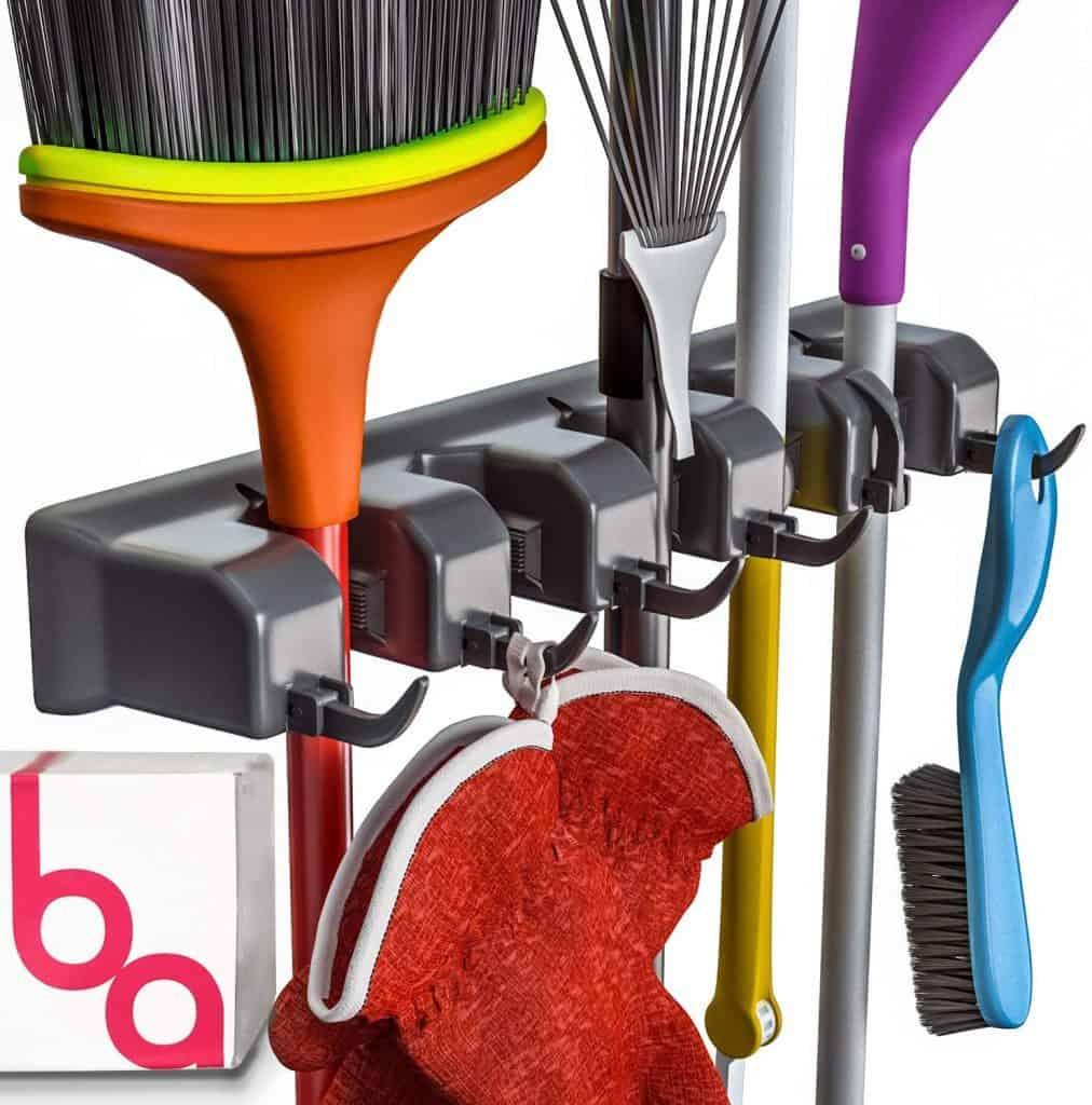 broom garden tool organizer