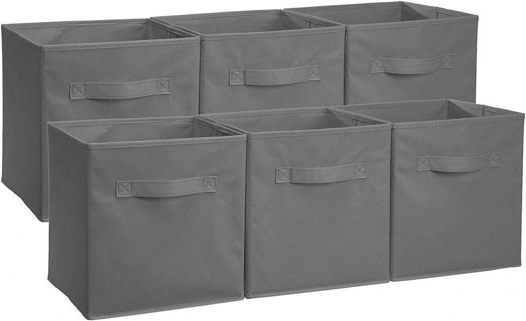 foldable storage bin organizer