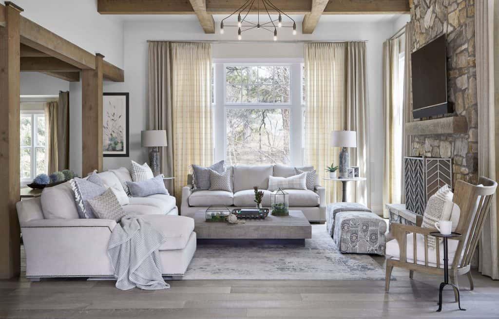 K Interiors Curtain Drapes in Living Room