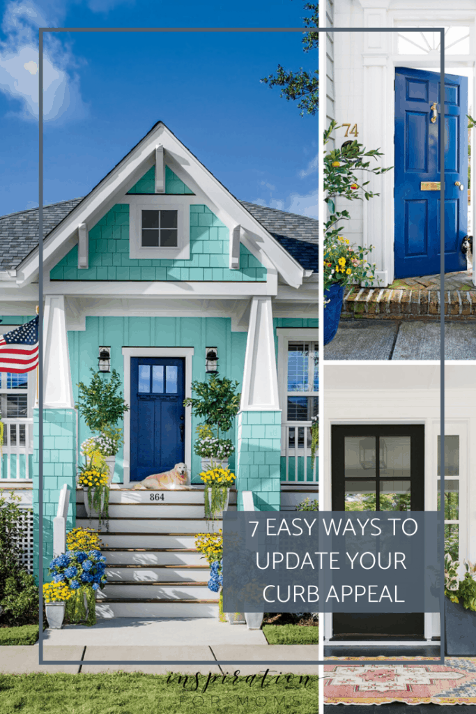 Improving your home's curb appeal shouldn't be reserved for just when selling. Discover seven easy ways to freshen up your homes outdoor appearance. #curbappeal #frontdoorcurbappeal