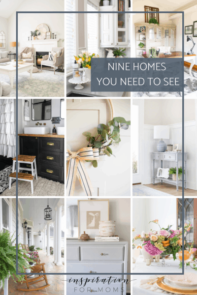 Today's post is packed full of beautiful home decor. It's all about nine homes you need to see! #ninehomes #bloggerhomes #ninebloggerhomes #homedecor