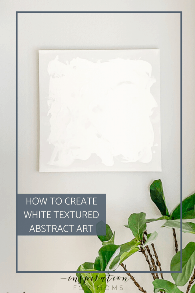 Art doesn't have to be expensive or complicated! Learn how to create a textured abstract art canvas for your home with this easy tutorial. #diycanvasart #abstractart #diyart