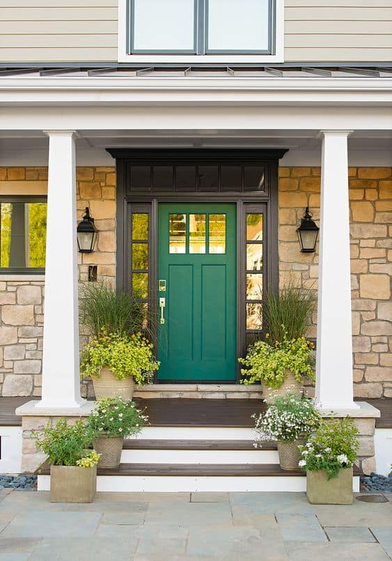 Freshen up your homes curb appeal with new door hardware. #curbappeal